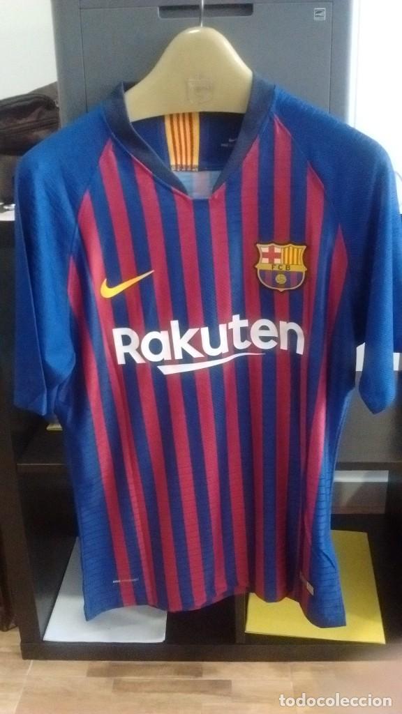 CAMISETA CASA PLAYER FC BARCELONA 2018 2019 LEO MESSI (Coleccionismo  Deportivo - Ropa y 66177581d6159
