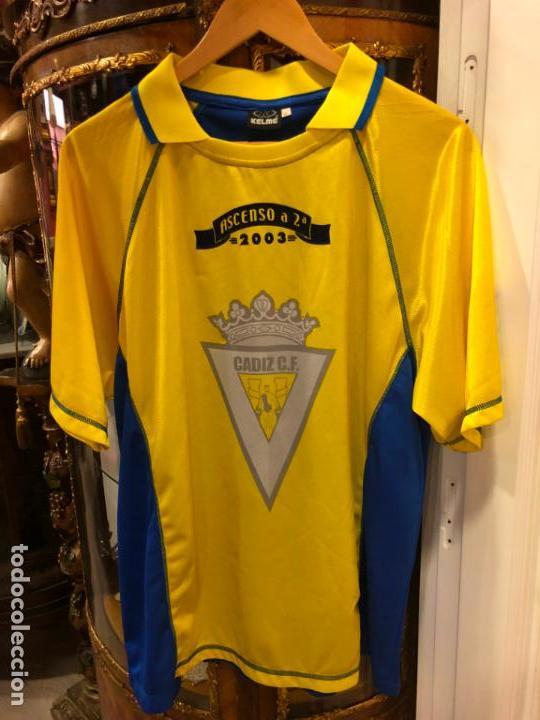 Camiseta de futbol conmemorativo ascenso año 2003 del cadiz club de futbol  - talla xl - 31128efe194
