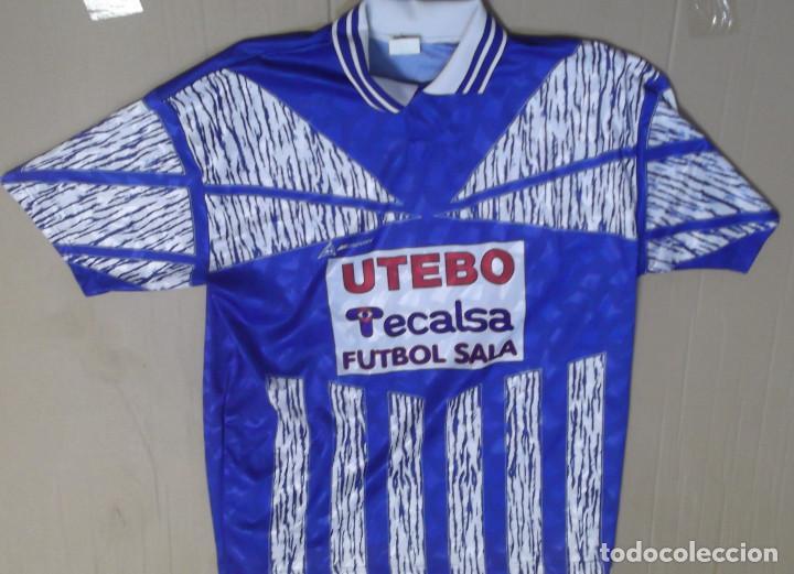 fb1d861126e8f CAMISETA FUTBOL ORIGINAL MERCURY OFICIAL UTEBO FUTBOL SALA DORSAL 3 TECALSA  FINISTERRE SEGUROS (Coleccionismo Deportivo