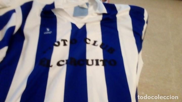 G-B259 CAMISETA DE FUTBOL BLANCO Y AZUL MARCA CALDECOR TALLA GRANDE (Coleccionismo Deportivo - Ropa y Complementos - Camisetas de Fútbol)