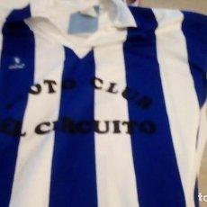 Coleccionismo deportivo: G-B259 CAMISETA DE FUTBOL BLANCO Y AZUL MARCA CALDECOR TALLA GRANDE. Lote 242830220