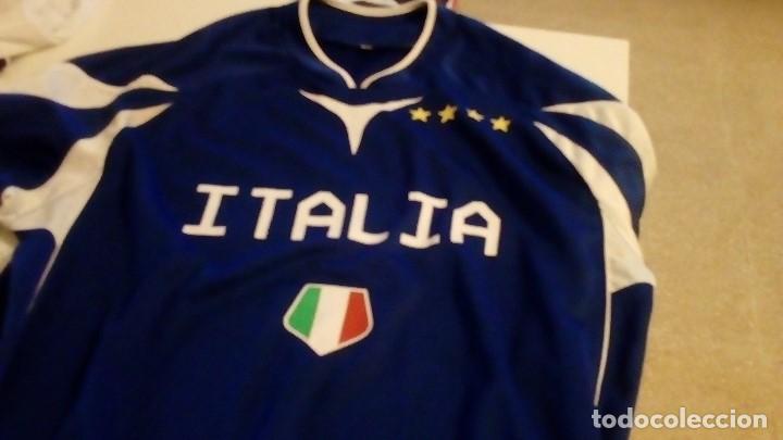 G-B259 CAMISETA DE FUTBOL AZUL DE ITALIA TALLA M (Coleccionismo Deportivo - Ropa y Complementos - Camisetas de Fútbol)