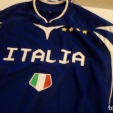 Coleccionismo deportivo: G-B259 CAMISETA DE FUTBOL AZUL DE ITALIA TALLA M. Lote 133159554