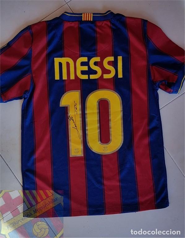 FC BARCELONA BARÇA 2009-10 CAMISETA OFICIAL ORIGINAL HOME BOY TIENDA LEO  MESSI  10 FIRMADA f5212708fc7