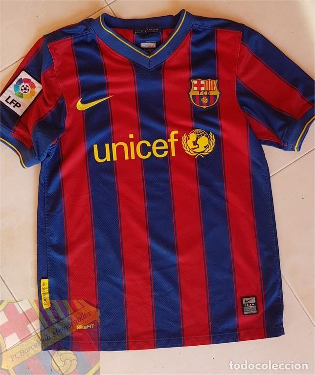 Coleccionismo deportivo  FC BARCELONA BARÇA 2009-10 CAMISETA OFICIAL  ORIGINAL HOME BOY TIENDA LEO 6401b00bb23