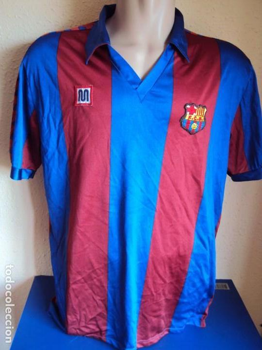 (F-180941)CAMISETA MIGUEL ANGEL NADAL - F.C.BARCELONA - MEYBA - DORSAL 15 - 91-92 - MATCH WORN (Coleccionismo Deportivo - Ropa y Complementos - Camisetas de Fútbol)