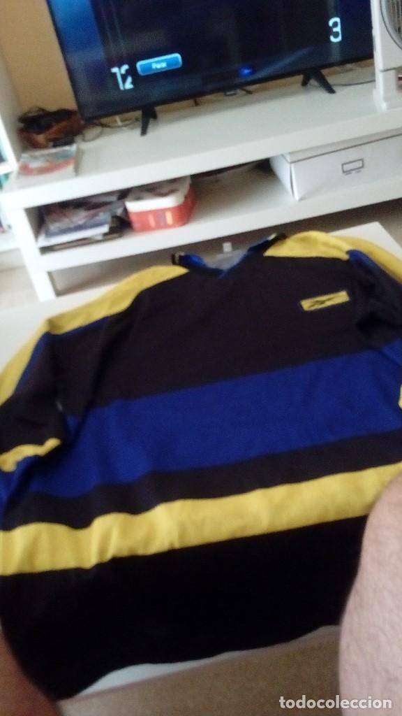 G-KIKO54 CAMISETA DE FUTBOL ? NEGRA TALLA L MARCA REEBOK UNICA VER FOTOS (Coleccionismo Deportivo - Ropa y Complementos - Camisetas de Fútbol)