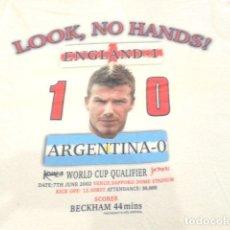 Coleccionismo deportivo: CAMISETA BECKHAM MUNDIAL 2002 ( ENGLAND - 1 ARGENTINA - 0 ). Lote 134958570