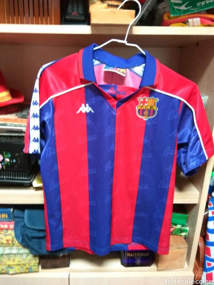 CAMISETA F C BARCELONA KAPPA TAMAÑO 10 NIÑO (Coleccionismo Deportivo - Ropa y Complementos - Camisetas de Fútbol)