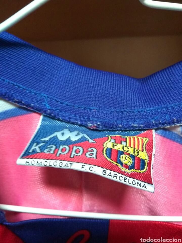 Coleccionismo deportivo: CAMISETA F C BARCELONA KAPPA TAMAÑO 10 NIÑO - Foto 2 - 79179413