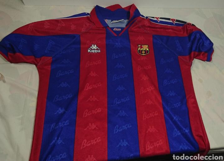 CAMISERTA FC BARCELONA BARÇA KAPPA AÑOS 90 TALLA YL (Coleccionismo  Deportivo - Ropa y Complementos f8d625f83ac