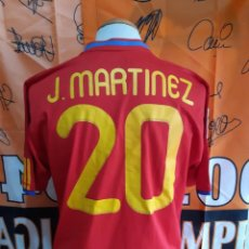 Coleccionismo deportivo: CAMISETA FUTBOL SELECCION ESPAÑA #20 J. MARTINEZ 2010. Lote 137199406