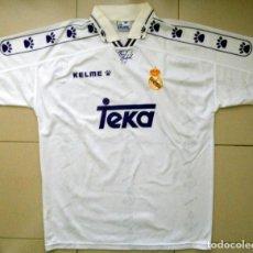 Coleccionismo deportivo: CAMISETA REAL MADRID TEMPORADA 95/96 1995 1996 - FÚTBOL VINTAGE - ORIGINAL KELME - TEKA PUBLICIDAD. Lote 137311430