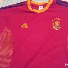 Coleccionismo deportivo: CAMISETA SELECCION ESPAÑA FUTBOL AÑO 2002 VINTAGE ADIDAS TALLA L. Lote 137358402