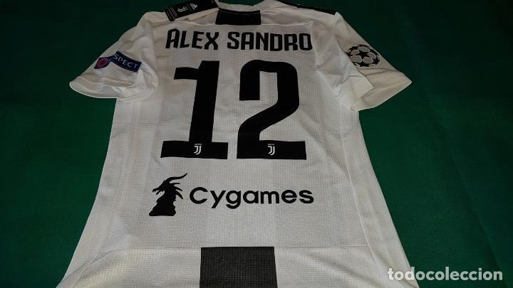 CAMISETA SHIRT OFICIAL CASA VERSION PLAYER AC JUVENTUS 2018 2019 ALEX  SANDRO (Coleccionismo Deportivo ce77388d32f