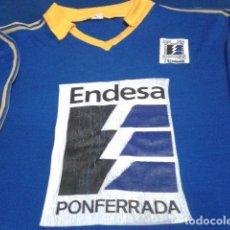Coleccionismo deportivo: CAMISETA FUTBOL EUREDA DEPORTES LA BARRA ( C.F. ENDESA PONFERRADA ) DE PRINCIPIOS DE LOS 90 . Lote 138286822