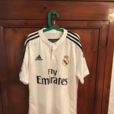 Coleccionismo deportivo: CAMISETA CASA MATCH WORN REAL MADRID 2014/2015. TALLA M JAMES. Lote 138833062
