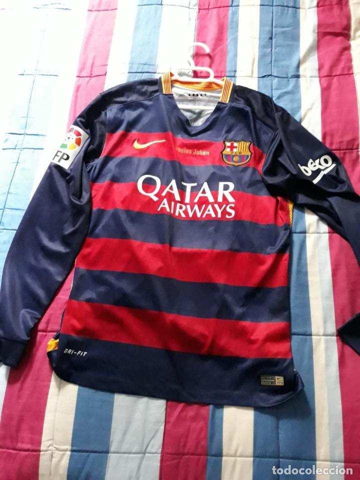 Fußball Fußball-Trikots Camiseta oficial match worn FC Barcelona Dorsal 3 Gerard Piqué