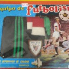 Collectionnisme sportif: EQUIPACIÓN FÚTBOL PORTERO ATHLETIC DE BILBAO T.2 RIVESA 80S.NUEVO EN CAJA.. Lote 215657498