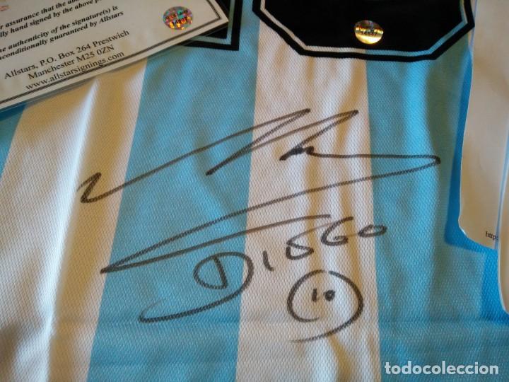 Coleccionismo deportivo  CAMISETA DE D.MARADONA FIRMADA CERTIFICADO  AUTENTICIDAD CLUB FUTBOL CLUB F.C BARCELONA 0dea7a61c5007