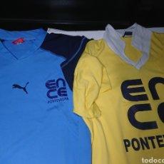 Coleccionismo deportivo: LOTE 2 CAMISETAS DE ENTRENAMIENTO - FÚTBOL BASE ENCE PONTEVEDRA. Lote 140798657