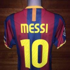Coleccionismo deportivo: CAMISETA FC BARCELONA 2010/11 CL MATCH UN WORN SHIRT FIRMADA POR LEO MESSI. Lote 140861774