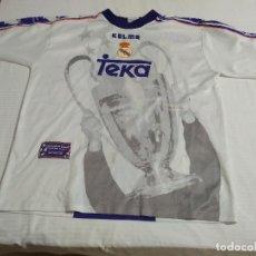 Coleccionismo deportivo: CAMISETA REAL MADRID /COPA EUROPA 1998 OFICIAL KELME / TALLA XL. Lote 141223490