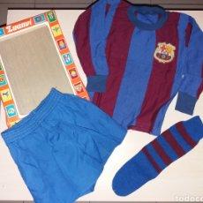 Coleccionismo deportivo: ANTIGUO EQUIPACIÓN INFANTIL FC BARCELONA - LUANVI - TALLA 1 - NUEVO ¡¡. Lote 141603000