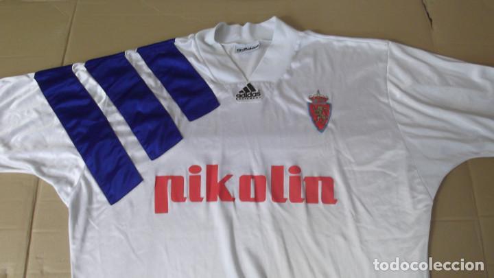 CAMISETA FUTBOL ORIGINAL ADIDAS REAL ZARAGOZA 3 BANDAS (Coleccionismo Deportivo - Ropa y Complementos - Camisetas de Fútbol)