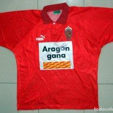 Coleccionismo deportivo: CAMISETA MATCH WORN PARTIDO JUGADO REAL ZARAGOZA FILIAL ANTIGUA FUTBOL VINTAGE LIGA 93/94 PUMA RARA. Lote 143209986