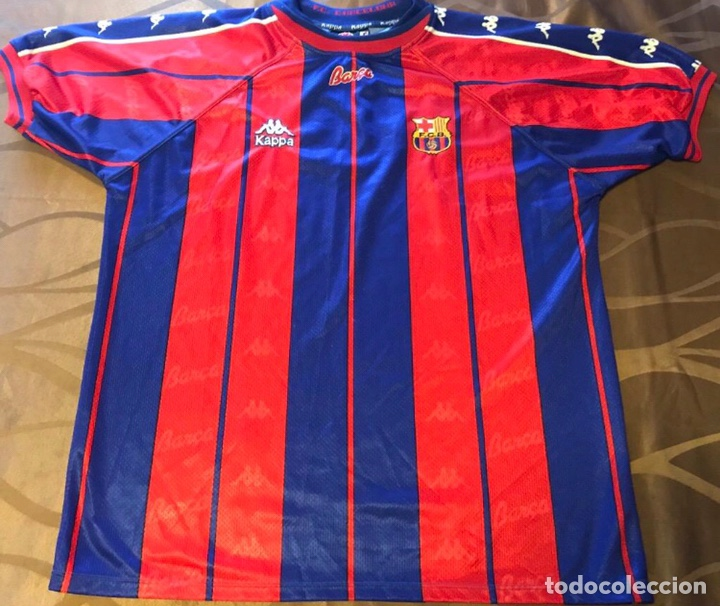 wholesale dealer db0af 36b95 Camiseta Shirt Trikot Maglia FC Barcelona Kappa Antigua