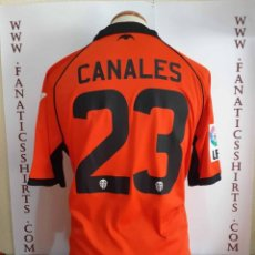 Coleccionismo deportivo: CAMISETA FUTBOL VALENCIA CF Nº23 CANALES 2011-2012 FIRMADA PLANTILLA. Lote 143889970