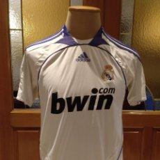 Coleccionismo deportivo: CAMISETA REAL MADRID FUTBOL ADIDAS 2007 2008. TALLA S. USADA. SIN DORSAL. Lote 144818726