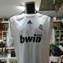 Coleccionismo deportivo: CAMISETA DEL REAL MADRID. ADIDAS BWIN OFICIAL. DORSAL 9 RONALDO EL GORDO. TALLA XL. TDKDEP16. Lote 160042956
