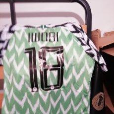 Coleccionismo deportivo: CAMISETA NIGERIA 2018. TALLA L. ETIQUETA. NÚMERO 18.. Lote 147407960