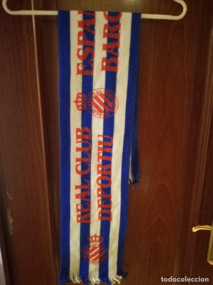 RCD ESPANYOL VINTAGE SCARF FOOTBALL BUFANDA FUTBOL LOTE (Coleccionismo Deportivo - Ropa y Complementos - Camisetas de Fútbol)