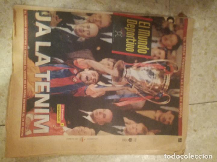 SAMPDORIA FC BARCELONA NEWSPAPER PERIDICO FINAL FOOTBALL FUTBOL (Sammelleidenschaft Sport - Bekleidung und Zubehör - Fußball T-Shirts)