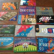 Coleccionismo deportivo: LOTE CARNETS NARCE FC BARCELONA FOOTBALL FUTBOL . Lote 147763470