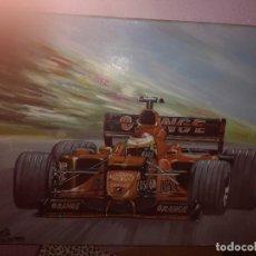 Coleccionismo deportivo: PAINT OLEO F1 PEDRO MARTINEZ DE LA ROSA MINARDI ARROWS CUADRO PINTURA . Lote 147763694