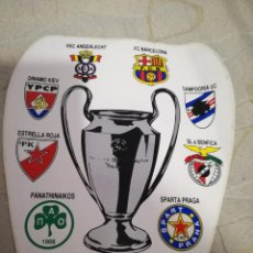 Coleccionismo deportivo: FC BARCELONA SAMPDORIA CREVENA ZVEZDA DYNAMO KIEV BENFICA PANATHINAIKOS SPARTA STICKER FOOTBALL. Lote 147764162