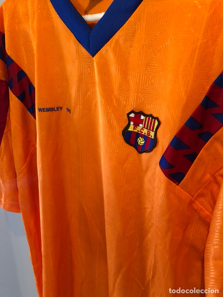 Sammelleidenschaft Sport: CAMISETA F.C. BARCELONA WEMBLEY 1992 - Foto 2 - 147772817