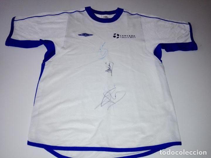 CAMISETA-CAMPUS 2011-CERCEDA-CON AUTOGRAFOS-BUEN ESTADO-VER FOTOS (Coleccionismo Deportivo - Ropa y Complementos - Camisetas de Fútbol)