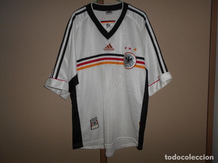 FUTBOL CAMISETA ORIGINAL SELECCION ALEMANIA MARCA ADIDAS ANTIGUA ALEMANA (Coleccionismo Deportivo - Ropa y Complementos - Camisetas de Fútbol)