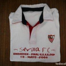 Coleccionismo deportivo: POLO MANGA LARGA SEVILLA FC-MIDDLESBROUGH FC. EINDHOVEN FINAL UEFA CUP 10 MAYO 2006. TALLA XXL. Lote 152228330