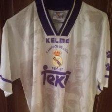 Coleccionismo deportivo: REAL MADRID CAMPEON DE LIGA M CAMISETA FUTBOL FOOTBALL SHIRT . Lote 153552034