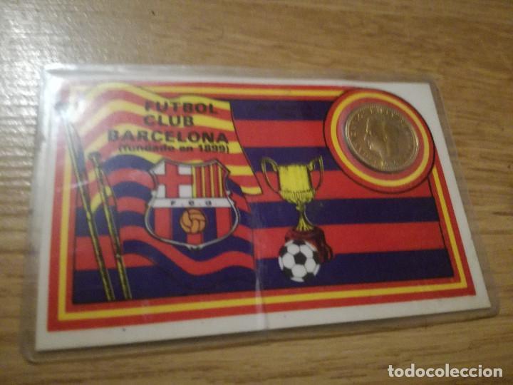 FC BARCELONA VINTAGE SOUVENIR FUTBOL FOOTBALL (Coleccionismo Deportivo - Ropa y Complementos - Camisetas de Fútbol)
