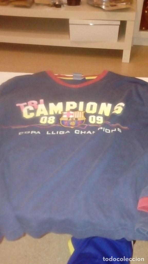 G-TN490W SUDADERA DE FUTBOL CLUB BARCELONA TALLA M CHAMPION 08 09 2008 2009 COPA LIGA CHAMPION (Coleccionismo Deportivo - Ropa y Complementos - Camisetas de Fútbol)
