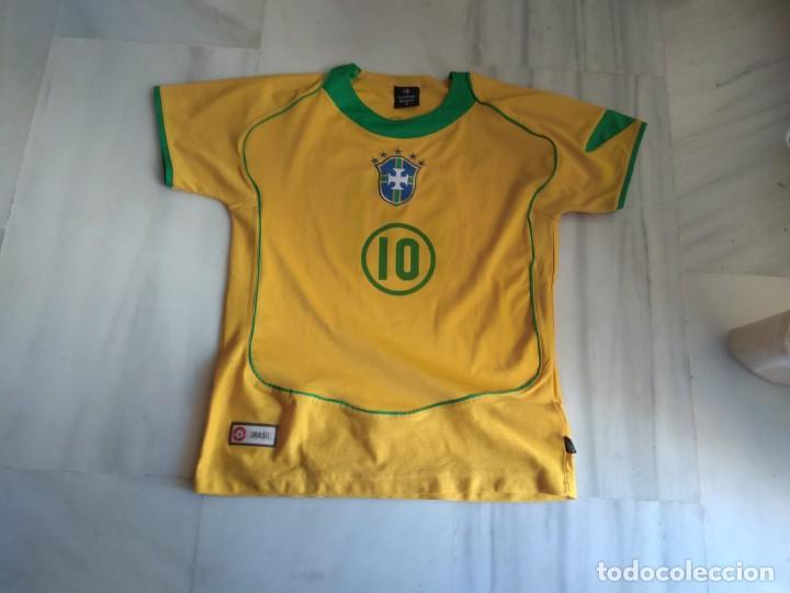 CAMISETA RONALDINHO BRAZIL FOOTBALL LEAGUE TALLA 14 (Coleccionismo Deportivo - Ropa y Complementos - Camisetas de Fútbol)
