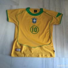 Coleccionismo deportivo: CAMISETA RONALDINHO BRAZIL FOOTBALL LEAGUE TALLA 14. Lote 154212002