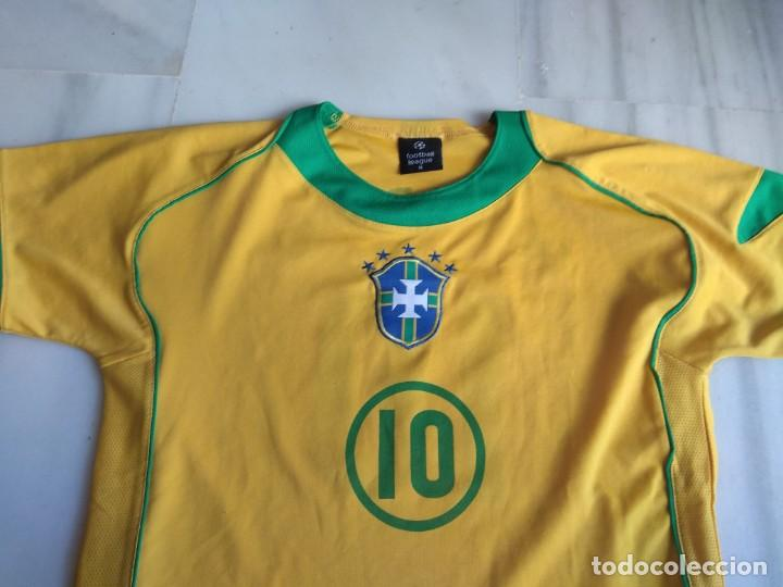 Coleccionismo deportivo: CAMISETA RONALDINHO BRAZIL FOOTBALL LEAGUE TALLA 14 - Foto 2 - 154212002
